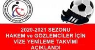 2020-2021 HAKEM ve GÖZLEMCİLER VİZE YENİLEME
