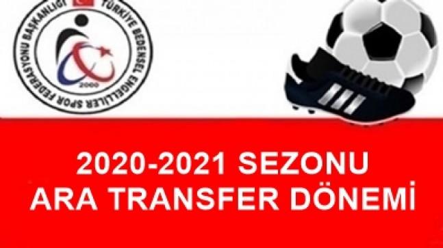 2020-2021 SEZONU ARA TRANSFER DÖNEMİ